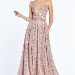 A-Line Sleeveless Bridesmaid Long Dress